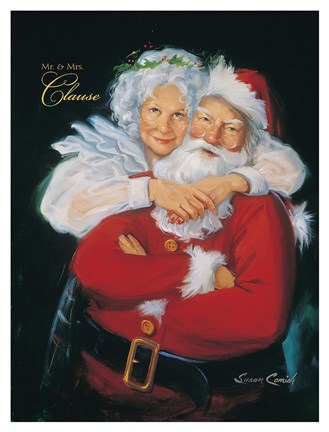 Mr And Mrs Claus Fine Art Print By Susan Comish At
