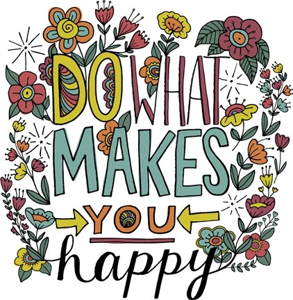 Do what makes you happy color fine art print by elizabeth for What is a color that makes you happy