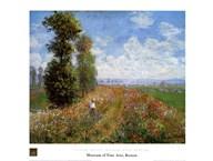Meadow with Poplars  Fine Art Print
