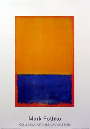 Framed Untitled Yellow, Blue, Orange1955 Print