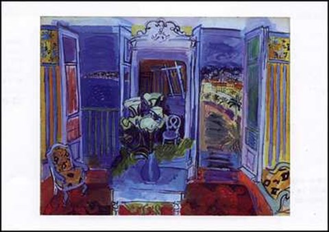 Interieur a la fenetre ouverte fine art print by raoul for Fenetre ouverte