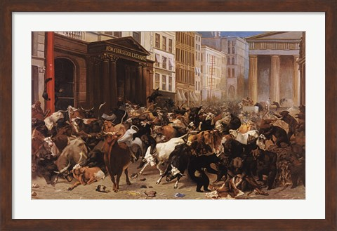 The Bulls And Bears In The Market Fine Art Print By