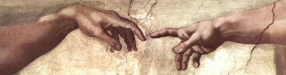 Creation of Adam Hands Detail by Da Vinci