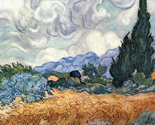A Wheat Field with Cypresses, c.1889 by Vincent Van Gogh