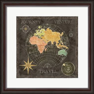 Cynthia Coulter - Old World Journey Map Black II