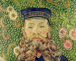 Portrait of the Postman Joseph Roulin, 1889 by Vincent Van Gogh