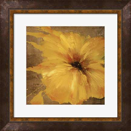 Framed Colourful Flowers II Print