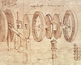 Studies of Toothed Gears and for a Hygrometer by Leonardo Da Vinci
