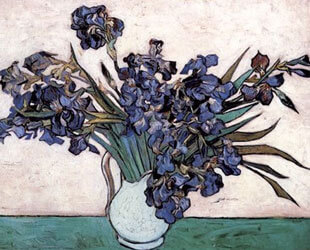 Irises in Vase, c.1890 by Vincent Van Gogh