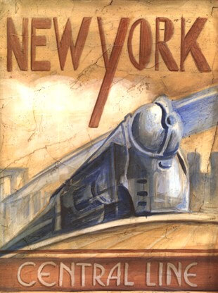 New York Central Line Art by Ethan Harper