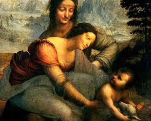 Virgin and Child with St. Anne, c.1510 by Leonardo Da Vinci