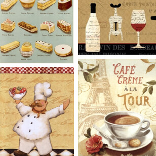French Food Posters