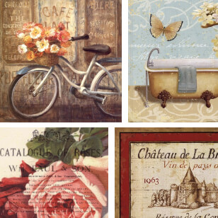 vintage french prints
