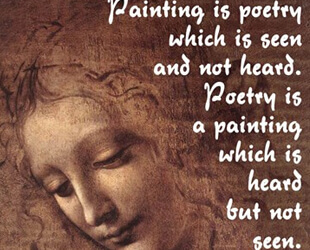Painting is Poetry - Da Vinci Quote