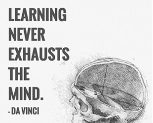 Learning Never Exhausts the Mind -Da Vinci Quote