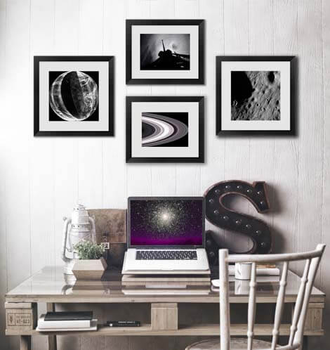 Black and White space photography