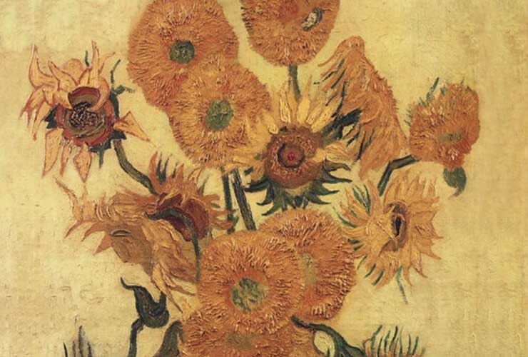 Van Gogh Sunflower Art