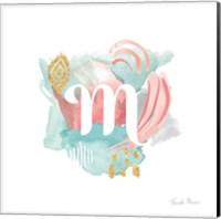 Abstract Monogram M Fine Art Print