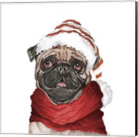 Holiday Pug Fine Art Print