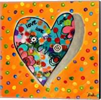 Neon Hearts of Love IV Fine Art Print