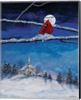 Little White Church On Hill Fine Art Print