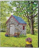 Spring at the Springhouse Fine Art Print