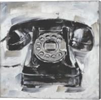Retro Phone I Fine Art Print