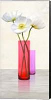 Poppies in crystal vases (Purple II) Fine Art Print