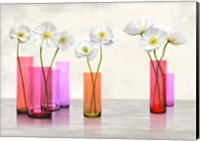Poppies in crystal vases (Purple palette) Fine Art Print