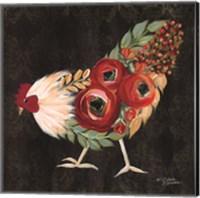 Botanical Rooster Fine Art Print