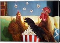 Popcorn Chickens Fine Art Print