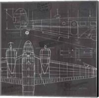 Plane Blueprint II Fine Art Print
