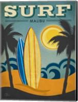 Surf Malibu Fine Art Print