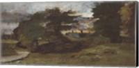 Landscape with Cottages Fine Art Print