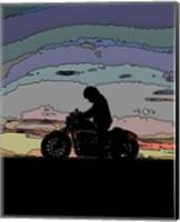 Motorcycle Rider Fine Art Print