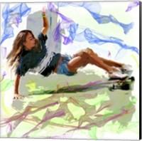 Woman Skateboarder Fine Art Print