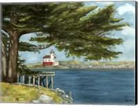 Lighthouse Under Tree Fine Art Print