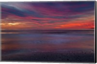 Purple-Colored Sunrise On Ocean Shore, Cape May NJ Fine Art Print