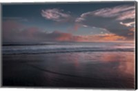 Sunset On Ocean Shore 3, Cape May National Seashore, NJ Fine Art Print