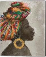 Portrait of a Woman I (gold hoop) Fine Art Print