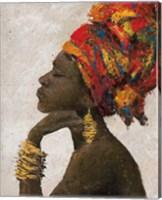 Portrait of a Woman II (gold bracelets) Fine Art Print