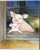 Farm Family Pigs Fine Art Print