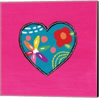 Pink Painted Heart Fine Art Print