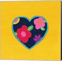 Yellow Painted Heart Fine Art Print