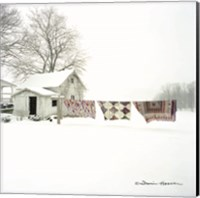 Quilts in Snow Fine Art Print