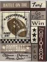 Football Game On Fine Art Print