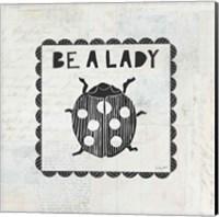 Ladybug Stamp Be A Lady Fine Art Print