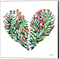 Hidden Heart Square Fine Art Print
