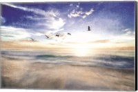 Seascape with Gulls Fine Art Print