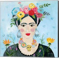 Homage to Frida II Shoulders Fine Art Print